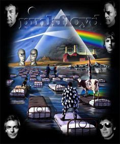 ☮ American Hippie Psychedelic Music Art ~ Pink Floyd