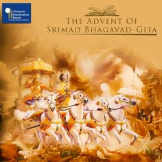 This is the anniversary day commemorating the day that Srimad Bhagavad Gita was spoken by Lord Sri Krishna to His dear most devotee Arjuna at the place now known as Jyotisar Tirtha amid the warring families of the Kurus and the Pandavas at Kurukshetra. #GitaJayanthi