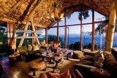 Vue à couper le souffle sur le Ngorongoro Crater en Tanzanie. Visite déco, Ngorongoro Crater Lodge