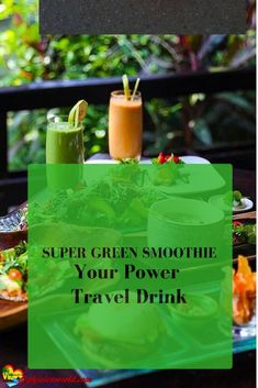 A Super Green Travel Smoothie or any day. Amazingly great for your health this organic green smoothie tastes so good. Spirulina, Smoothie Recipes, Smoothies, Amazing Grass Green Superfood, Super Green Smoothie, Gourmet Recipes, Healthy Recipes, Superfood Powder, Healthy Foods To Eat