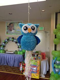 Owl pull string piñata.