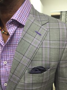 Gladson grey with lavender windowpane sportcoat. This jacket with get you tons on compliments