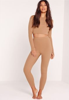 grab the ben & jerry's, blankets and make sure you and the girls get cosy! perfect for those much needed pamper parties, these nude beauts with a luxe ribbed style need to be in your collection. with a cropped and long sleeve top, comfy fit...