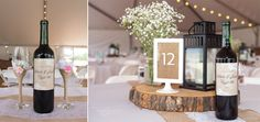 Custom wedding wine labels and wedding glasses made up but a portion of all the details brought to this amazing wedding