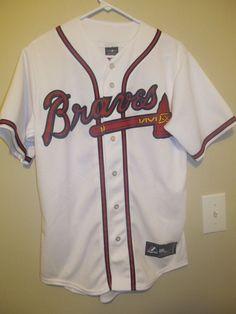 c6017b5f Evan Gattis - Atlanta Braves Authentic Jersey - Majestic Adult Small. Atlanta  BravesMlbYouthYoung Man