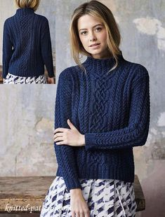 e456ecb5fd9b9e Cable sweater knitting pattern free Inspired by traditional fishermen s  sweaters