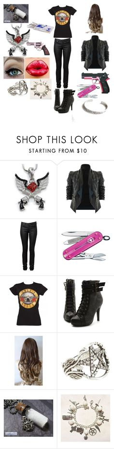 """""""Supernatural (7)"""" by maxinehearts ❤ liked on Polyvore featuring Revolver, Matiere, Victorinox Swiss Army, Ultimate, Bullet, Ollio and Pamela Love"""