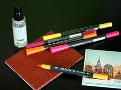 Create multi-colored, textured backgrounds with a single stamp, markers, and water  #HeroArts