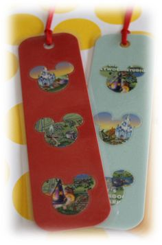 Bookmark made with Disney Park Maps by TiffanyandGirls on Etsy, $1.00