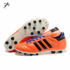 sneakers for cheap 608c3 9f8be New Orange Black White Football Boots 2014 Brazil World Cup Adidas Copa  Mundial FG For Sale