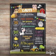 Farm Birthday, Birthday Ideas, Lucca, Poster, Gabriel, Art, Comics, Kids Routine Chart, Tractor