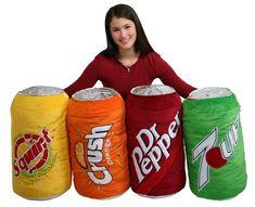 "Group Sales Senario ""Dr. Pepper"", ""Squirt"", ""Orange Crush"" and ""7-Up"" plush pillows"