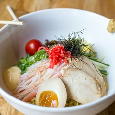 Cold noodles for the hot weather at Yasha ramen 940 Amsterdam Ave, nyc 212 222 2995