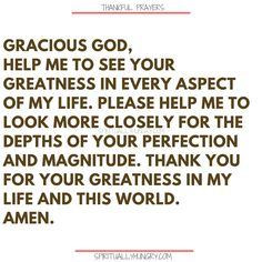 Here's a great batch of 30 thankful prayers for you. We are given so much, often times we focus on what we don't have or what we want, instead of being thankful for all that we have. These 30 short prayers will help you foster a thankful heart. Thankful Prayers, Prayers Of Gratitude, Short Prayers, Thankful Heart, Thanksgiving Prayers For Family, Prayer For Family, Prayer For You, Daily Prayer, Amazing Inspirational Quotes