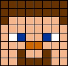 template for steve minecraft Steve Minecraft, Minecraft Party, Minecraft Beads, Minecraft Quilt, Minecraft Pattern, Minecraft Pixel Art, Images Minecraft, Minecraft Designs, Fuse Beads