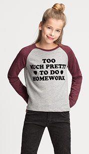 Sweatshirt in lichtgrijs mix
