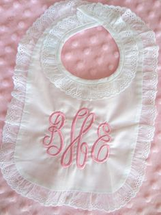 Monogrammed English Bib by ChicADeeEmbroidery on Etsy.  Annabelle has this bib!:). Love it'