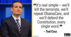 Is it really that hard to day out loud GOP establishment?!?  ... because Ted Cruz makes it look easy, to speak the truth.