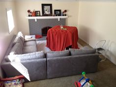 It all started with a picture... I saw an ottoman that I liked online...but there was no way to get it. It wasn't sold in stores. So,... Upholstered Ottoman, Pouf Ottoman, She Sheds, Sofa, Couch, Diy Home Decor, Frosting, Ottomans, Furniture