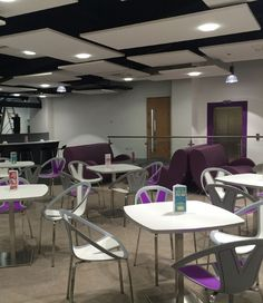The University of Law commisioned us to create the cafe furniture, communal…