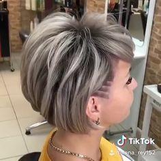 Haircuts For Thin Fine Hair, Very Short Haircuts, Short Bob Hairstyles, Short Hair Cuts, Short Hair Styles, Short Hair Undercut, Undercut Hairstyles, Ciara Hair, Angled Hair