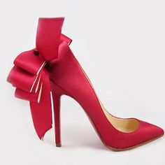 Christian Louboutin Red Satin Anemone Pump