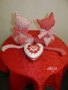 Valentítnske mačičky a srdce:) Autorka: deja. Artmama.sk