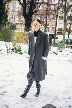 Gain an effortless transseasonal look with an extra long coat.