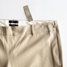 J.Crew Minnie Pant J.Crew Minnie in tan/khaki color. Never worn! Ankle length - Inseam: 25 inches. Waist: 18 inches across. 95% cotton 5% spandex. J. Crew Pants Ankle & Cropped