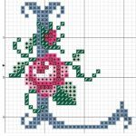 This Pin was discovered by Jam Cross Stitch Letter Patterns, Cross Stitch Letters, Cross Stitch Rose, Cross Stitch Charts, Cross Stitching, Cross Stitch Embroidery, Embroidery Patterns, Hand Embroidery, Le Point