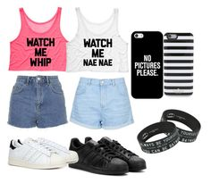 """SUMMER TWINS"" by lousworld on Polyvore featuring moda, Topshop, adidas, adidas Originals, Casetify i Kate Spade"