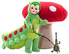 The fact that I ever made this pattern makes me happy.  A lot of trial and error to make a hookah smoking caterpillar!