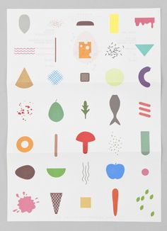 colorful and playful identity was designed by Netherlands-based studio Raw Color for Keukenconfessies, a food design studio Pattern Illustration, Graphic Design Illustration, Simple Illustration, Poster S, Poster Prints, Raw Color, Catalog Design, Food Design, Illustrations