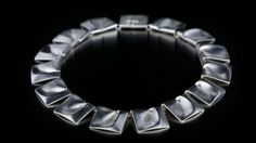 925 Silver Necklace created in 1969 by Bjorn Weckstrom in Finland who called it Planetary Valleys - it was worn by Princess Leia in Star Wars 1977