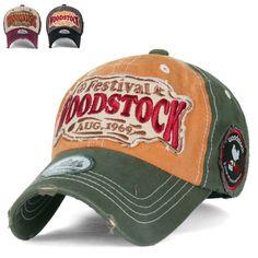 eaeda91567f ililily WOODSTOCK August 1969 Vintage Patch Trucker Hat Cotton Baseball Cap