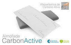 A almofada Carbon Active de Maxcolchon esta fabricada com partículas de carbono em seu núcleo, cujas propriedades mais notáveis são a diminuição de maus odores e umidade, e a redução da eletricidade estática corporal. Altura total aprox: 15cm. #almofada