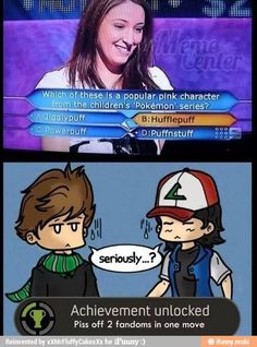 Wow....either that lady has never heard of Pokemon or, she's really dumb.