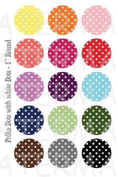 Polka Dots with White Dots 4 x 6 Digital Collage by OldMarket