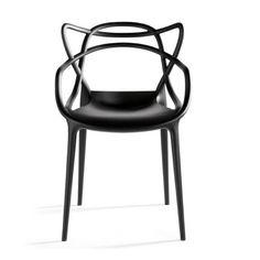 De Masters van Philippe Starck voor Kartell is een bijzonder fraai en doordacht ontwerp. Beter goed gejat, dan slecht verzonnen. Deze uitspraak gaat zeker op voor stoel Masters van Kartell. Philippe Starck voegde drie iconische stoelen samenvoegde tot één stoel.    In de Masters stoel komen de vlinderstoel van Arne Jacobsen, de tulpenstoel van Eero Saarinen en de Eiffel-stoel van Charles Eames samen. De herkenbare contouren van deze iconen vormen als buizenframe de rugleuning.