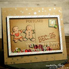 Little Art Cottage: Christmas Postcard Shaker