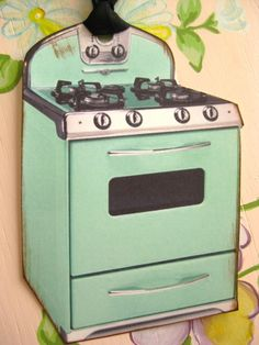 Mint Retro Stove Tags by sassysadielee on Etsy, $3.75