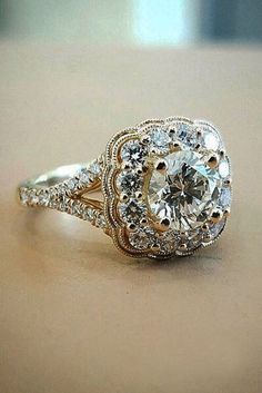 24 Vintage Engagement Rings With Stunning Details ❤️ See more: http://www.weddingforward.com/vintage-engagement-rings/ #wedding