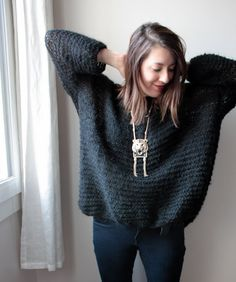 CATCAT ET SON DRESSING: DIY - le Pull Didi&Catcat version Mini !! How To Purl Knit, Easy Knitting, Mode Inspiration, Diy Crochet, Knitting Designs, Knitwear, Fashion Outfits, How To Wear, Dressing