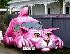Get a Pink Cat Car Funny Cars funny picture from Misc. You can get dozens of other funny pictures from Misc. Here are some samples of funny words: pink, cat, car, funny, cars Strange Cars, Weird Cars, Cool Cars, Funny Animal Pictures, Car Pictures, Funny Photos, Funny Animals, Funniest Animals, Weird Pictures