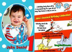 Dr Seuss The Lorax Custom Photo Birthday Party Invitations #2