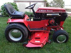 Vintage 1986 Wheel Horse Tractor 417-8 w/ 48'' Mower Deck #WheelHorse