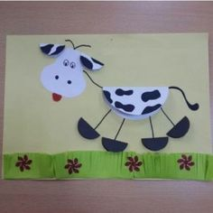 Crafts,Actvities and Worksheets for Preschool,Toddler and Kindergarten.Lots of worksheets and coloring pages. Farm Animal Crafts, Farm Crafts, Animal Projects, Camping Crafts, Preschool Crafts, Group Art Projects, Projects For Kids, Crafts For Kids, Cow Craft
