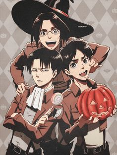 Hanji, Levi & Eren - Attack on Titan - Shingeki no Kyojin - Happy Halloween!