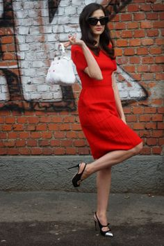 """meoutfit : meoutfit # 1262 """"Red Dress - Eleonora Carisi"""""""