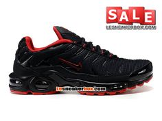 NIKE AIR MAX TN/TUNED REQUIN MESH - CHAUSSURES NIKE SPORTSWEAR PAS CHER POUR HOMME Noir/Rouge 604133-110